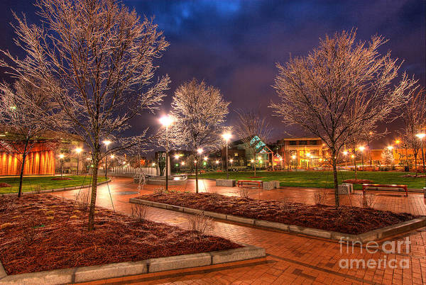 Greensboro Poster featuring the photograph Ice In The Park - Greensboro by Dan Carmichael