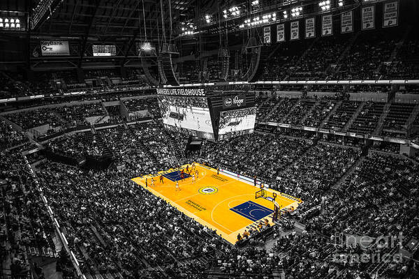 Banker's Life Poster featuring the photograph Indiana Pacers Special by David Haskett