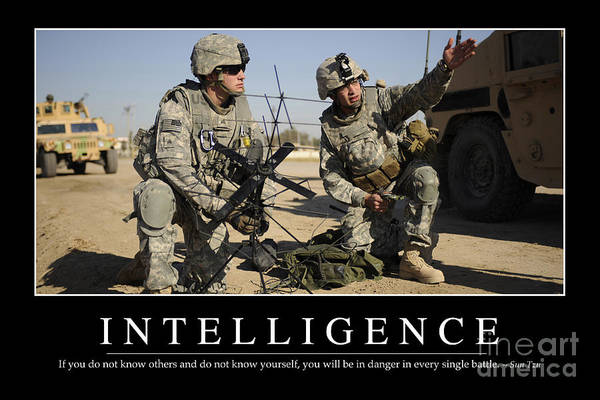 Horizontal Poster featuring the photograph Intelligence Inspirational Quote by Stocktrek Images