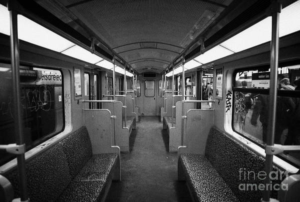 Berlin Poster featuring the photograph Interior Of A German U-bahn Train Berlin Germany by Joe Fox
