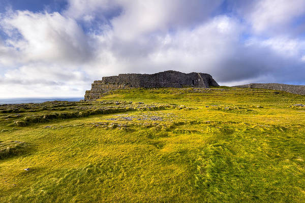 Galway Poster featuring the photograph Iron Age Ruins Of Dun Aengus On The Irish Coast by Mark E Tisdale