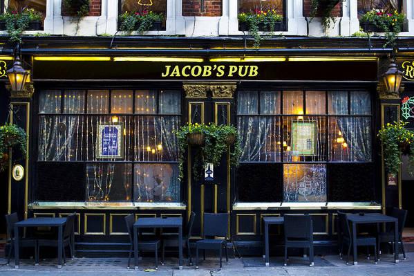 Jacob Poster featuring the photograph Jacob's Pub by David Pyatt