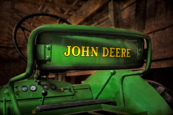 Diesel Poster featuring the photograph John Deere Tractor by Susan Candelario