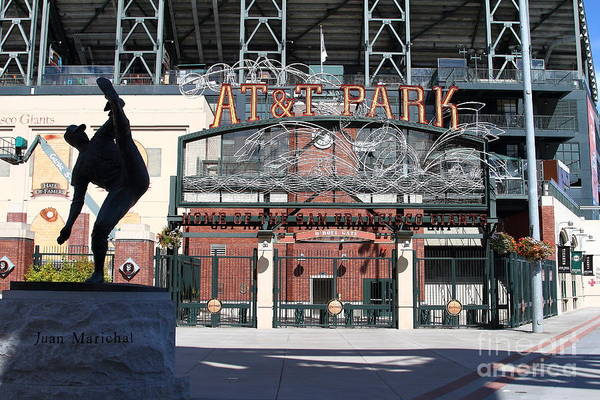 Sport Poster featuring the photograph Juan Marichal At San Francisco Att Park . 7d7640 by Wingsdomain Art and Photography