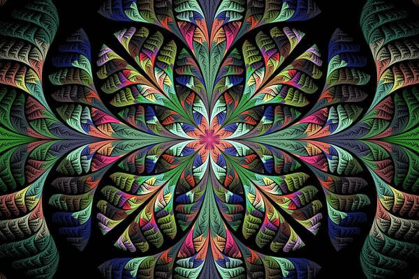 Fractal Poster featuring the digital art Julia by Sandy Keeton