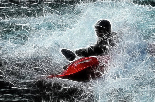 Kayak Poster featuring the photograph Kayaker 2 by Bob Christopher