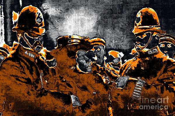 People Poster featuring the photograph Keystone Cops - 20130208 by Wingsdomain Art and Photography