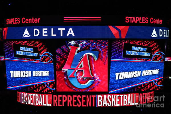 Los Angeles Clippers Western Conference Nba Turkish Heritage Day Celebrate Professional Basketball Team Halftime Show Los Angeles Clippers Western Conference Nba Turkish Heritage Day Celebrate Professional Basketball Team Halftime Show Los Angeles Clippers Western Conference Nba Turkish Heritage Day Celebrate Professional Basketball Team Halftime Show Los Angeles Clippers Western Conference Nba Turkish Heritage Day Celebrate Professional Basketball Team Halftime Show Poster featuring the photograph La Clippers Turkish Heritage by RJ Aguilar