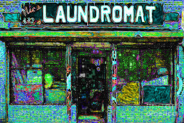 Americana Poster featuring the photograph Laundromat 20130731p180 by Wingsdomain Art and Photography