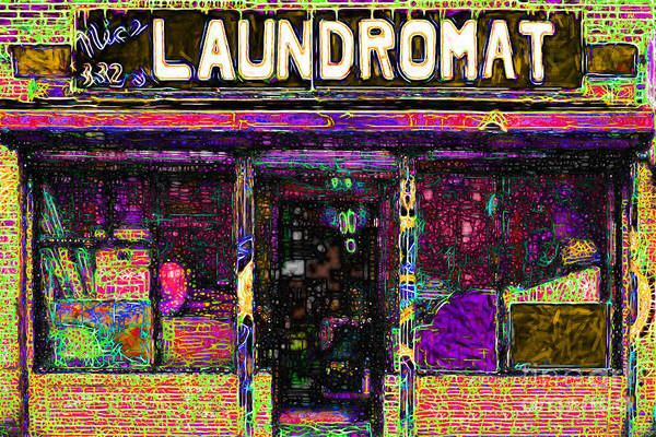 Americana Poster featuring the photograph Laundromat 20130731p45 by Wingsdomain Art and Photography