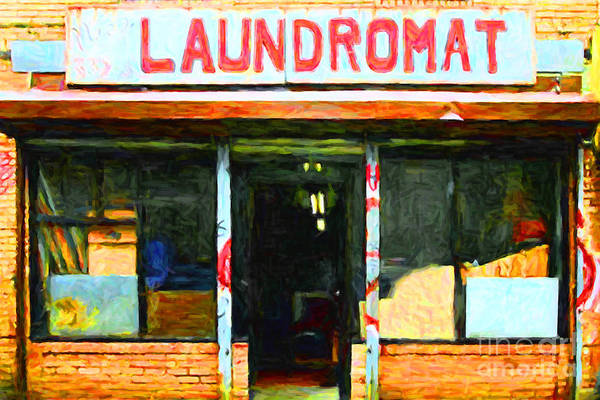 Americana Poster featuring the photograph Laundromat 20130731pop by Wingsdomain Art and Photography