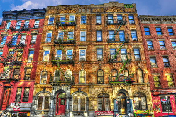 Led Zeppelin Poster featuring the photograph Led Zeppelin Physical Graffiti Building In Color by Randy Aveille