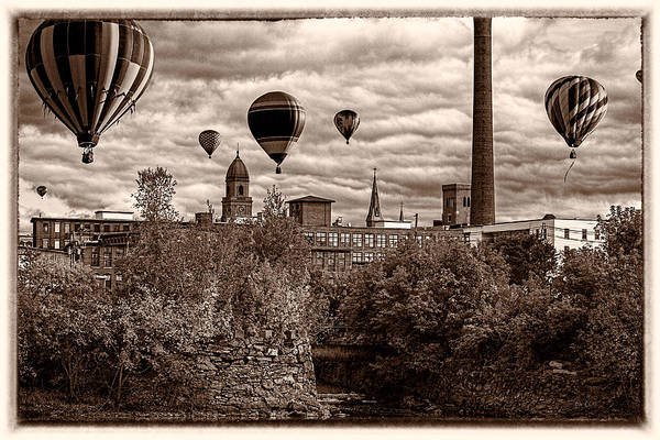 Hot Air Balloon Poster featuring the photograph Lewiston Maine Hot Air Balloons by Bob Orsillo