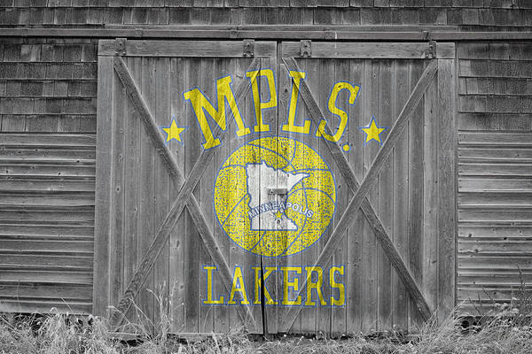 Lakers Poster featuring the photograph Los Angeles Milwaukee Lakers by Joe Hamilton