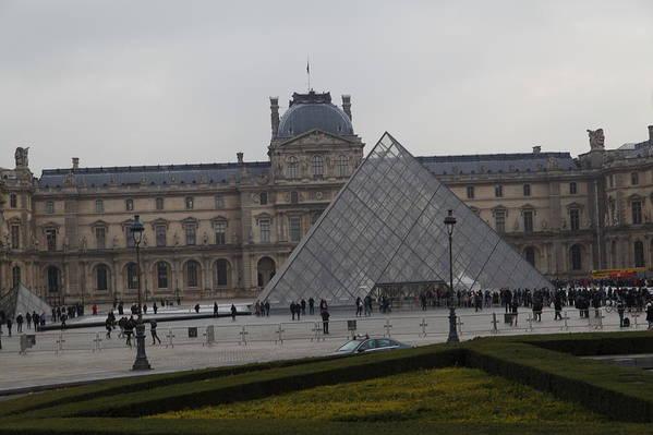 Paris Poster featuring the photograph Louvre - Paris France - 01138 by DC Photographer