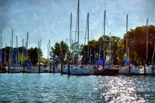 Holland Poster featuring the photograph Macatawa Masts by Michelle Calkins