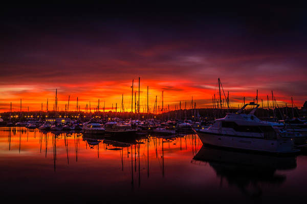 Chatham Poster featuring the photograph Marina Sunset by Dawn OConnor