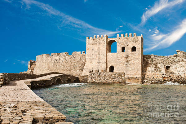 Methoni Poster featuring the photograph Methoni Venetian Fortress by Gabriela Insuratelu
