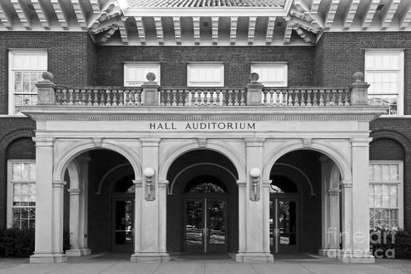 Hall Auditorium Poster featuring the photograph Miami University Hall Auditorium by University Icons