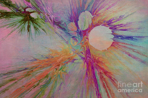 Abstract Poster featuring the digital art Mind Energy Aura by Deborah Benoit