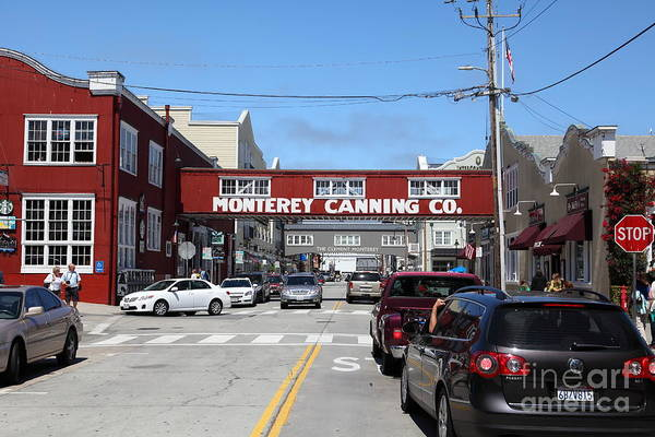 Monterey Poster featuring the photograph Monterey Cannery Row California 5d25027 by Wingsdomain Art and Photography