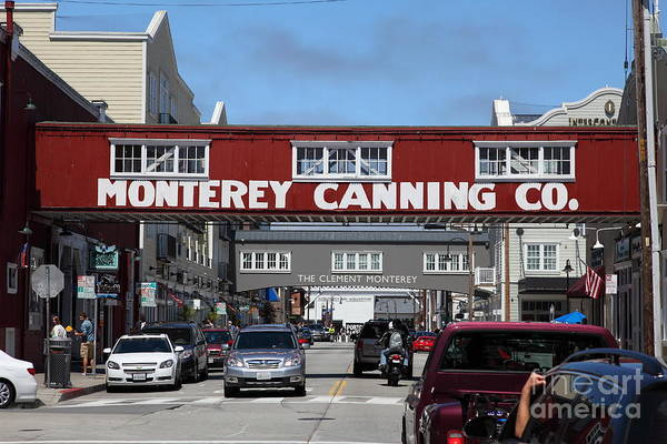 Monterey Poster featuring the photograph Monterey Cannery Row California 5d25029 by Wingsdomain Art and Photography