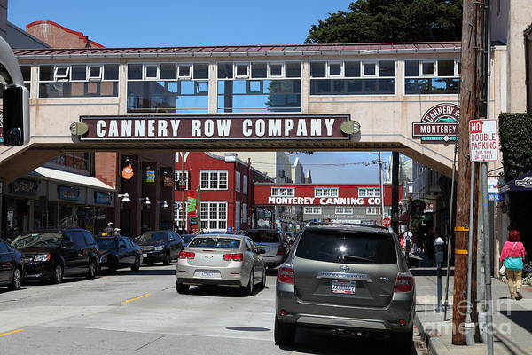 Monterey Poster featuring the photograph Monterey Cannery Row California 5d25031 by Wingsdomain Art and Photography