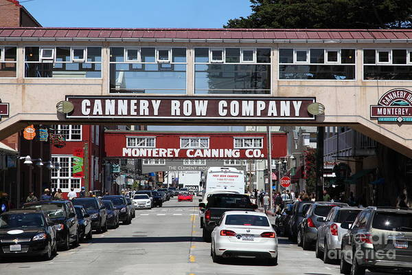 Monterey Poster featuring the photograph Monterey Cannery Row California 5d25034 by Wingsdomain Art and Photography