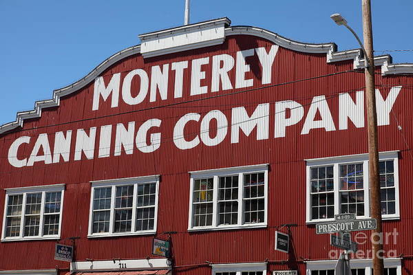 Monterey Poster featuring the photograph Monterey Cannery Row California 5d25039 by Wingsdomain Art and Photography