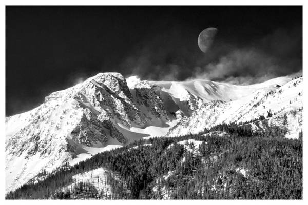 Mountains Of The Moon Poster featuring the photograph Mountains Of The Moon by Adele Buttolph