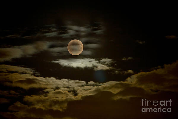 Mysterious Moon Poster featuring the photograph Mysterious Moon by Boon Mee