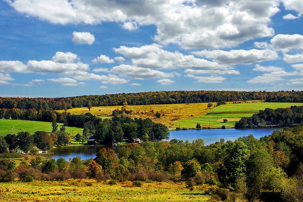 New York Poster featuring the photograph New York Countryside by Christina Rollo