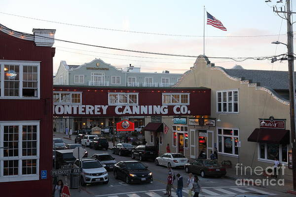 Monterey Poster featuring the photograph Nightfall Over Monterey Cannery Row California 5d25148 by Wingsdomain Art and Photography