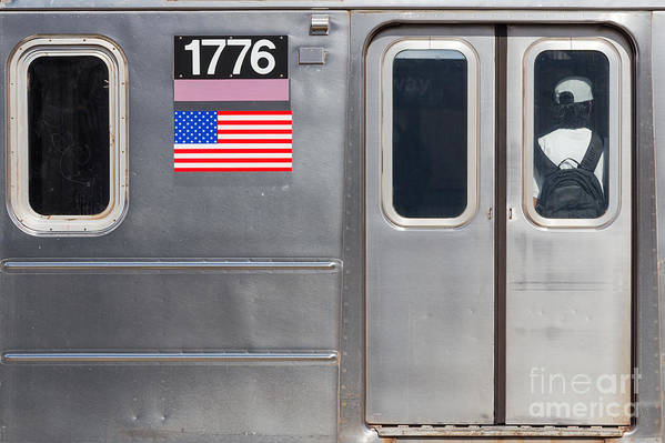 4th Of July Poster featuring the photograph Nyc Subway Car 1776 by Jannis Werner