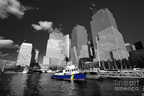 New York Poster featuring the photograph Nypd Blue by Rob Hawkins