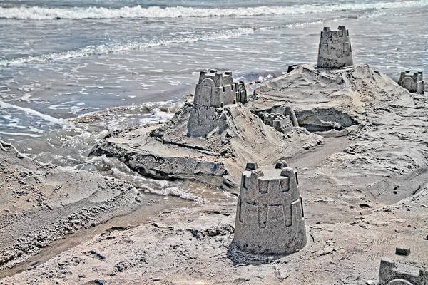 Topsail Poster featuring the photograph Ocean Sandcastles by Betsy Knapp