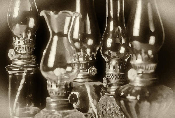 Oil Poster featuring the photograph Oil Lamps by Patrick M Lynch
