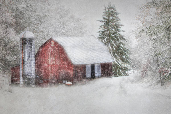 Barn Poster featuring the photograph Old Fashioned Christmas by Lori Deiter