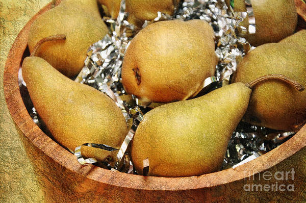 Pear Poster featuring the photograph Party Pears by Andee Design