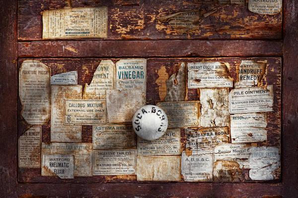 Savad Poster featuring the photograph Pharmacy - Signs Of The Time by Mike Savad