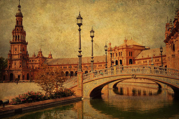 Seville Poster featuring the photograph Plaza De Espana 9. Seville by Jenny Rainbow