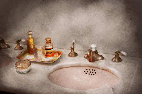 Sink Poster featuring the photograph Plumber - First Thing In The Morning by Mike Savad