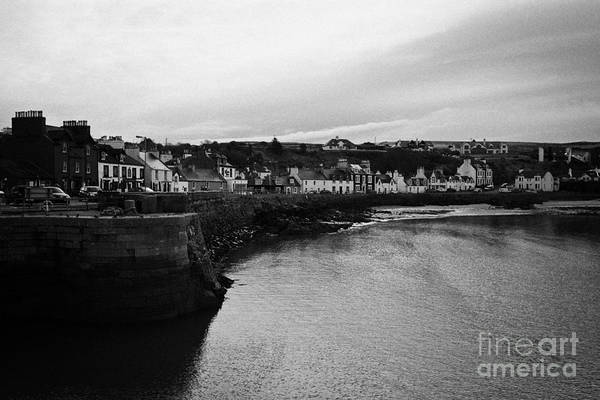 Portpatrick Poster featuring the photograph Portpatrick Village And Breakwater Scotland Uk by Joe Fox