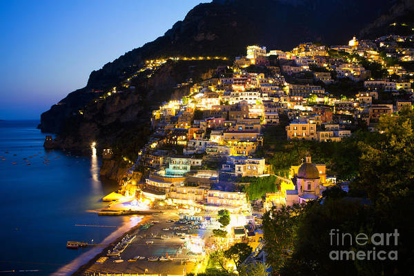 Italy Poster featuring the photograph Positano Glow by Leslie Leda