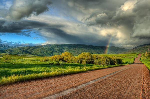 Rainbow Poster featuring the photograph Rainbow After The Storm by John McArthur