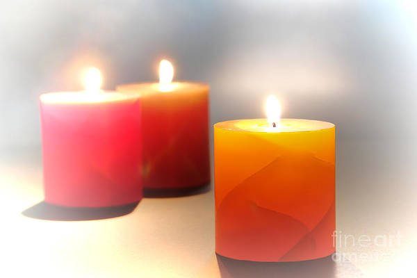 Candles Poster featuring the photograph Relaxation by Olivier Le Queinec