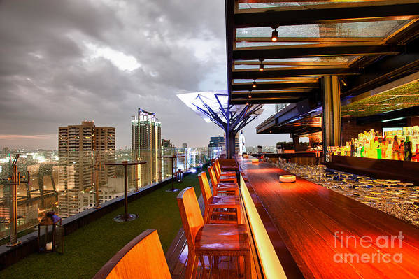 Above Eleven Poster featuring the photograph Rooftop Bar Above Eleven In Bangkok by Fototrav Print