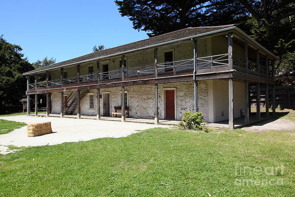 Bayarea Poster featuring the photograph Sanchez Adobe Pacifica California 5d22647 by Wingsdomain Art and Photography