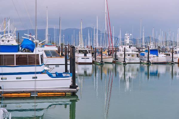 Sausalito Poster featuring the photograph Sausalito Harbor California by Marianne Campolongo