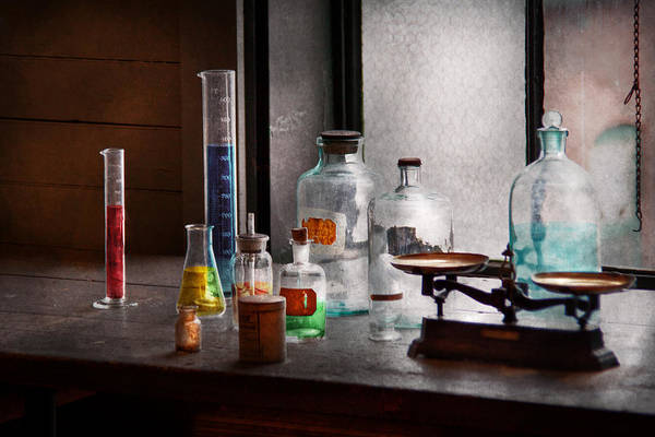 Science Poster featuring the photograph Science - Chemist - Chemistry Equipment by Mike Savad
